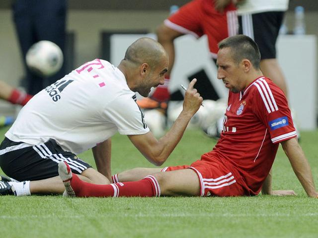 Ribery tỏ ra không hài lòng với cách đối xử của Pep Guardiola