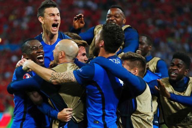 ĐT Pháp đang có khí thế rất cao sau 2 trận toàn thắng tại vòng bảng EURO 2016. Ảnh: Getty