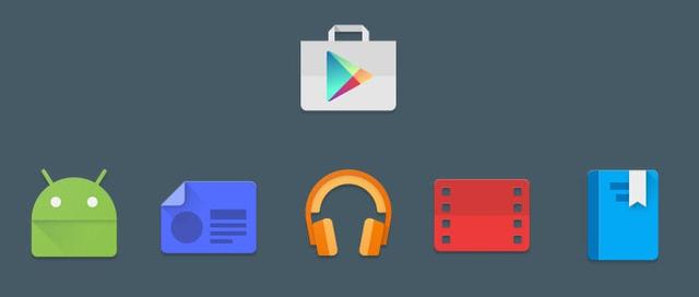 Biểu tượng ứng dụng của Google Play trước đây
