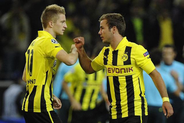 CĐV Dortmund đặt rất nhiều hi vọng vào sự tái hợp của Gotze và Marco Reus. Ảnh: Getty