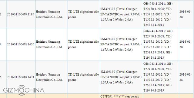 3 phiên bản Galaxy S7 nhận được chứng nhận 3C của Trung tâm chứng nhận thiết bị viễn thông của Trung Quốc