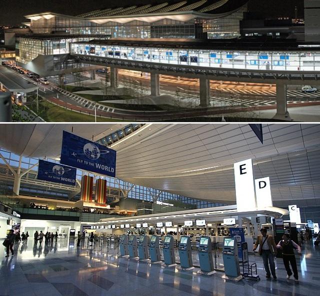 4. Sân bay quốc tế Haneda (Tokyo, Nhật Bản) (Ảnh: tokyo-monorail.co/japan-guide.com)