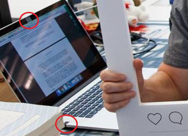 Webcam và jack cắm mic trên MacBook của Mark Zuckerberg bị bịt kín bởi băng dính