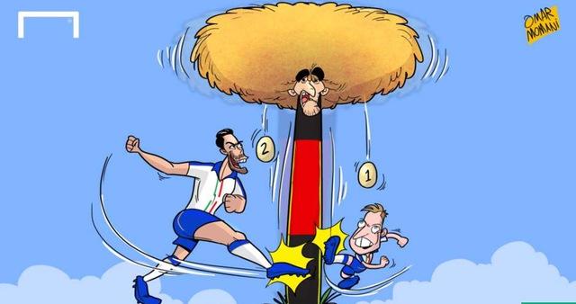 Dù được đánh giá cao hơn Italy trước trận đấu nhưng Bỉ đã thua toàn diện trước thầy trò HLV Conte với 2 bàn thắng của Giaccherini và Pelle.