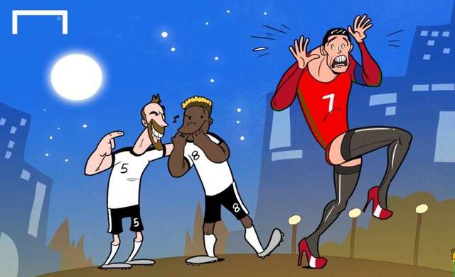 Ronaldo biến thành... người phụ nữ yếu đuối trong trận hoà 0 bàn thắng trước ĐT Áo.