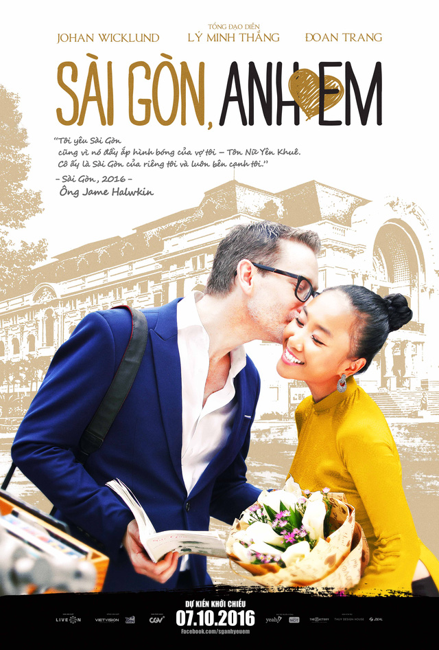 James – Yên Khuê (Johan Wicklund - Đoan Trang) - một tham tán người Pháp và người vợ Việt bị đặt trong mâu thuẫn giữa sự nghiệp và tình yêu, sự gắn bó với mảnh đất Sài Gòn.
