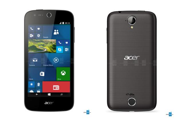 Phiên bản Acer Liquid M330 màu đen (Ảnh: PhoneArena)