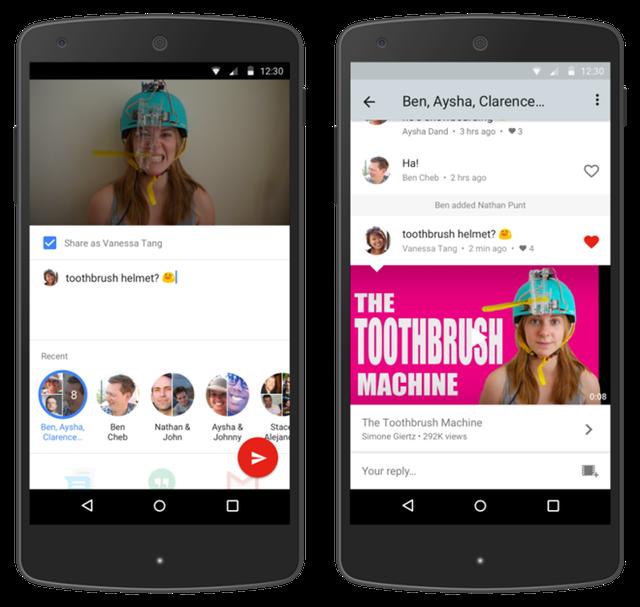 Với tính năng này, ,một tab mới có tên Shared sẽ có mặt trên ứng dụng, chứa toàn bộ video bạn chia sẻ và cuộc hội thoại.(Ảnh: Zing)