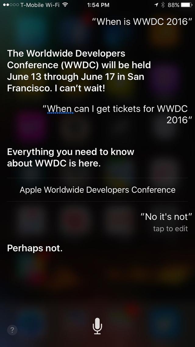 Thông tin về sự kiện từng được trợ lý ảo Siri tiết lộ