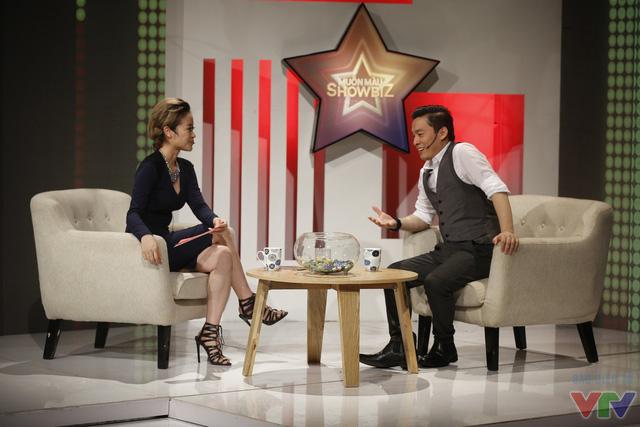 Lam Trường và MC Phí Linh.