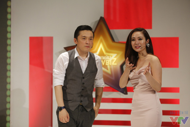 Lam Trường và MC Thùy Linh.