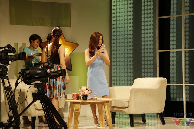Ngọc Anh trước buổi ghi hình