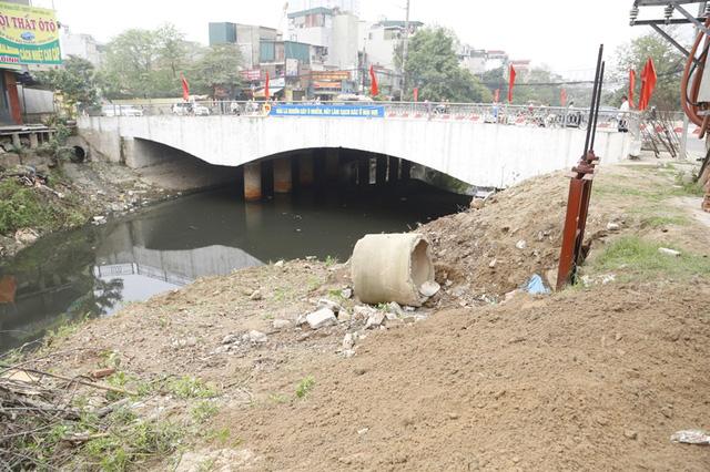 Khu vực sông Nhuệ sau khi được dọn sạch