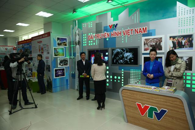 Gian hàng của Đài THVN tại Hội báo toàn quốc (Ảnh: Đoàn Tuấn)