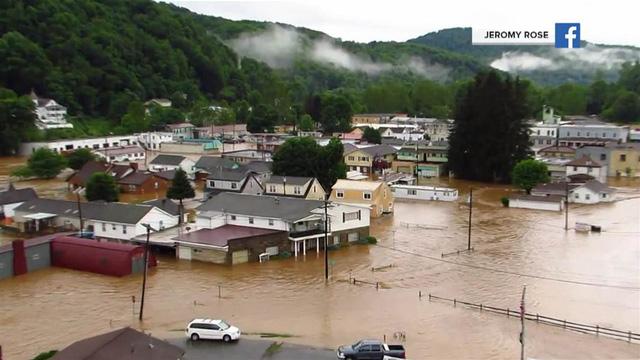 Nước dâng cao tại Tây Virginia. (Ảnh: nbcnews.com)