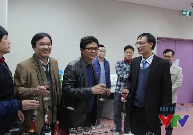 Tổng Giám đốc Đài THVN Trần Bình Minh thăm và chúc Tết Trung tâm kỹ thuật sản xuất chương trình