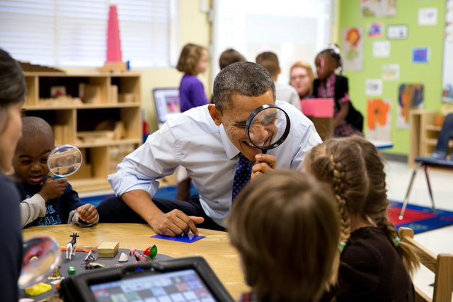 Tổng thống thực hành trong một lớp học ở bang Georgia.