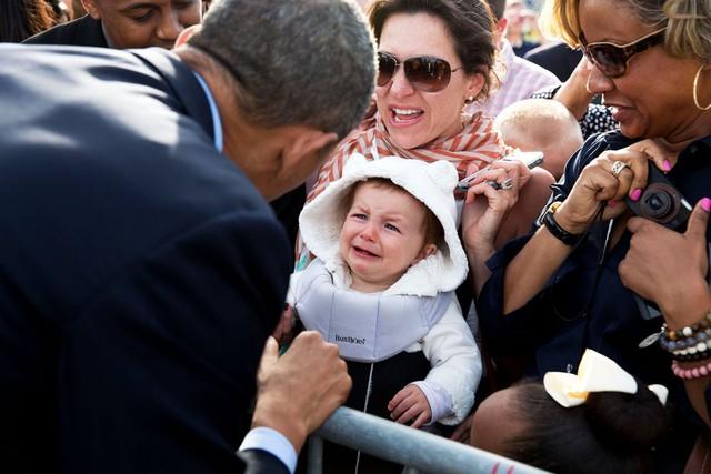 Biểu cảm cực đáng yêu của em bé