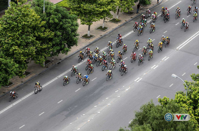 Hình ảnh đoàn đua nhìn từ trên cao