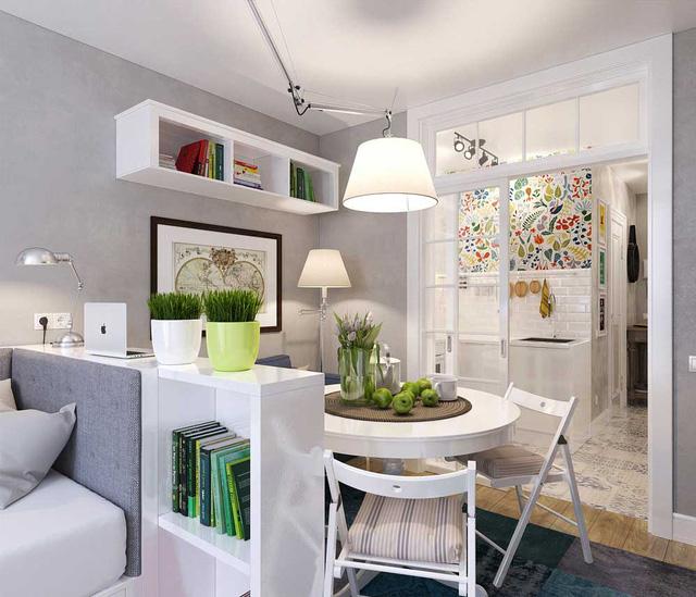 Chủ nhân không sử dụng quá nhiều đồ đạc nhưng lại lựa chọn tinh tế để không gian vẫn sinh động, bớt nhàm chán.