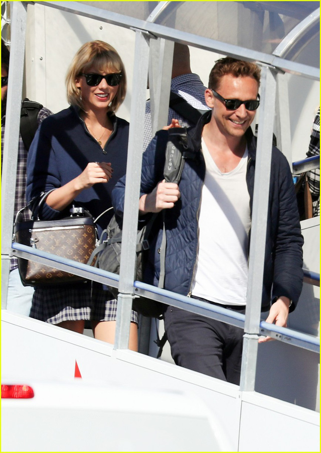Tom Hiddleston và Taylor Swift. (Ảnh: Just Jared)