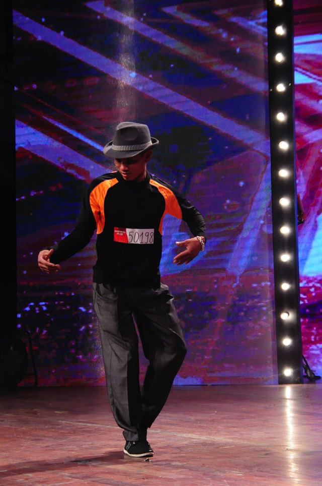 Thể hiện tiết mục nhảy Popping khá bắt mắt, thí sinh Trịnh Tiến Dậu đến từ Hà Nam cũng đã nhận được sự lựa chọn từ Ban giám khảo.