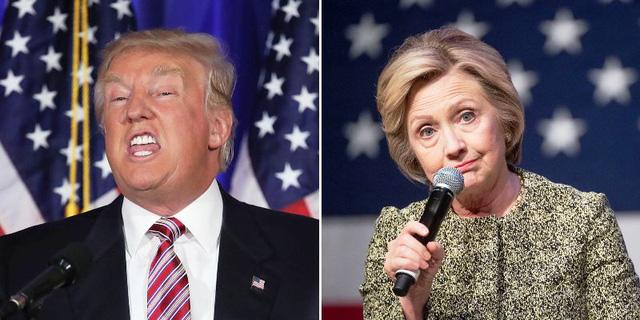 Hai ứng viên Tổng thống Mỹ Donald Trump và Hillary Clinton. Ảnh: Getty Images