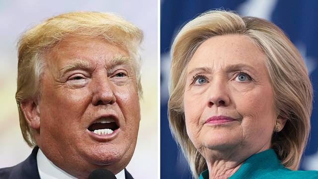 Ứng viên Donald Trump (đảng Cộng hòa) và Hillary Clinton (đảng Dân chủ)