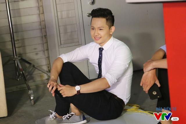 MC Hoàng Quân của chương trình Café Sáng với VTV3 cũng có mặt tại buổi casting.