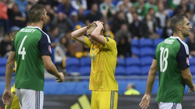 Ukraine đã chính thức chia tay EURO 2016 ngay từ vòng bảng. Ảnh: Getty