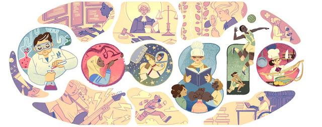Doodle kỷ niệm ngày Quốc tế Phụ nữ năm 2015 của Google