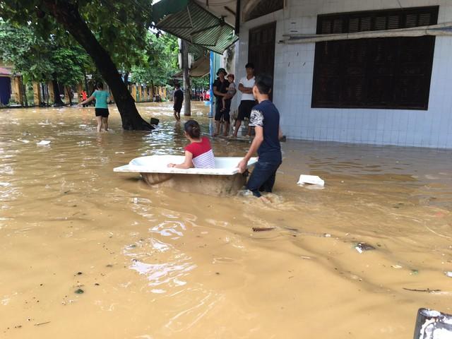Hình ảnh ngập tại Yên Bái (Ảnh: PV Nguyễn Ngân)