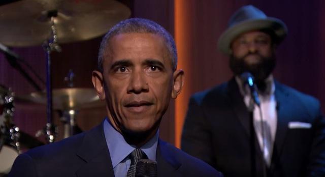 Tổng thống Obama trong phần chia sẻ đặc biệt ở chương trình The Tonight Show.
