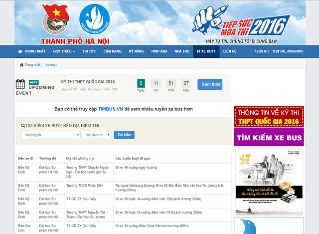 Trang website của Tiếp sức mùa thi luôn cập nhật liên tục các thông tin có ích cho kỳ thi năm nay