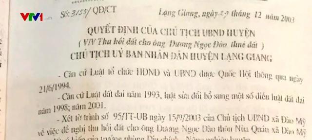 Quyết định thu hồi đất chóng mặt của do Chủ tịch UBND ký