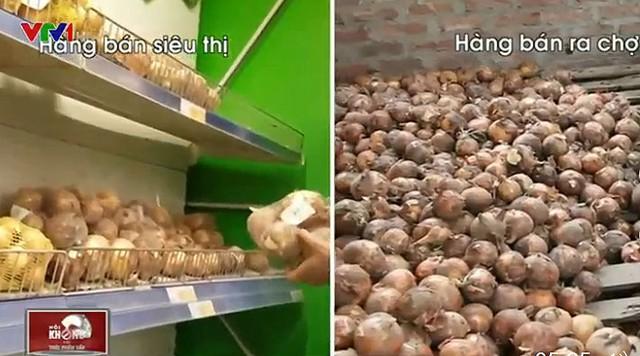 Rau bán trong siêu thị và rau bán ở chợ có nguồn gốc như nhau