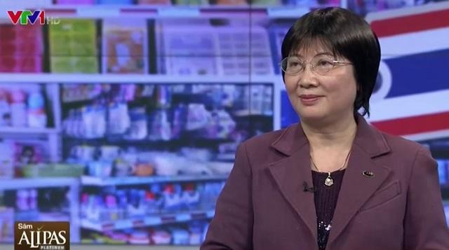 Bà Đinh Mỹ Loan - Chủ tịch Hiệp hội bán lẻ Việt Nam