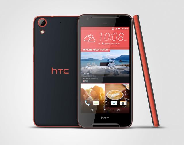HTC Desire 628 cá tính với sự kết hợp giữa 2 màu đỏ và đen