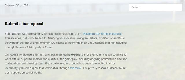 Thông báo của Niantic về việc khóa vĩnh viễn các tài khoản Pokémon GO gian lận