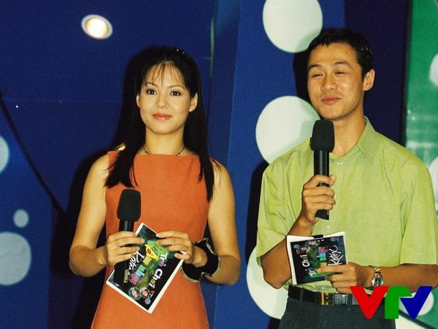 MC Diễm Quỳnh và Anh Tuấn thời đầu khi dẫn chương trình cùng nhau.
