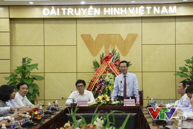 Trưởng Ban Tuyên giáo Trung ương Võ Văn Thưởng gửi lời chúc mừng tới lãnh đạo và tập thể nhà báo, biên tập viên, phóng viên Đài Truyền hình Việt Nam nhân ngày Báo chí Cách mạng Việt Nam (21/6)
