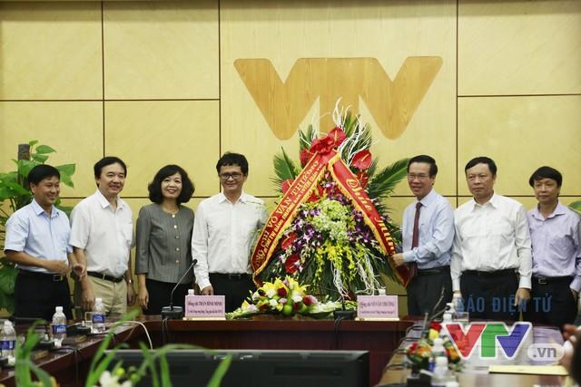 Lãnh đạo Đài Truyền hình Việt Nam chào đón Trường Ban Tuyên giáo Trung ương đến thăm VTV