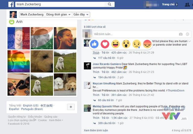 Cách sử dụng những biểu tượng cảm xúc đối với các dòng bình luận tương tự như đối với các bài đăng trên Facebook