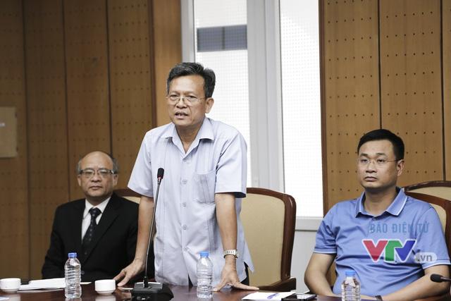 Ông Phạm Văn Quang - Phó Bí thư thường trực Đảng ủy, Phó Chủ tịch Quỹ Tấm lòng Việt - Đài THVN phát biểu tại buổi gặp gỡ
