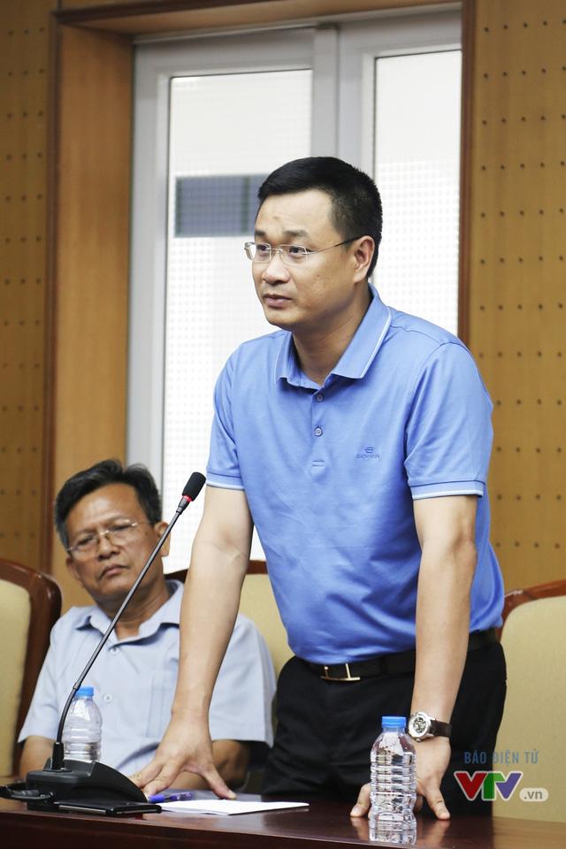 Ông Lê Ngọc Quang - Phó Trưởng ban Thời sự, Đài THVN chia sẻ tại buổi gặp gỡ.
