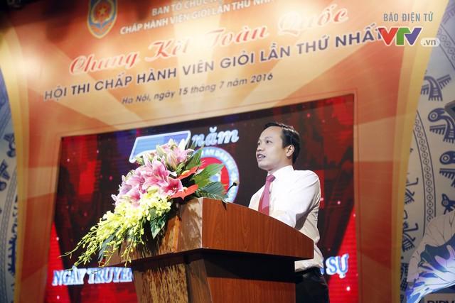 Ông Trần Tiến Dũng - Thứ trưởng Bộ Tư pháp phát biểu tại hội thi
