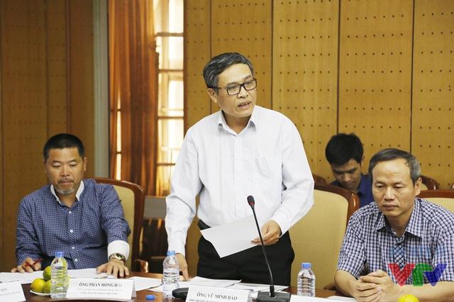 Ông Vũ Minh Bảo - Phó trưởng Ban Khoa Giáo, Đài Truyền hình Việt Nam cung cấp thông tin về lịch phát sóng chương trình vòng loại và vòng chung kết của cuộc thi Robocon Việt Nam 2016