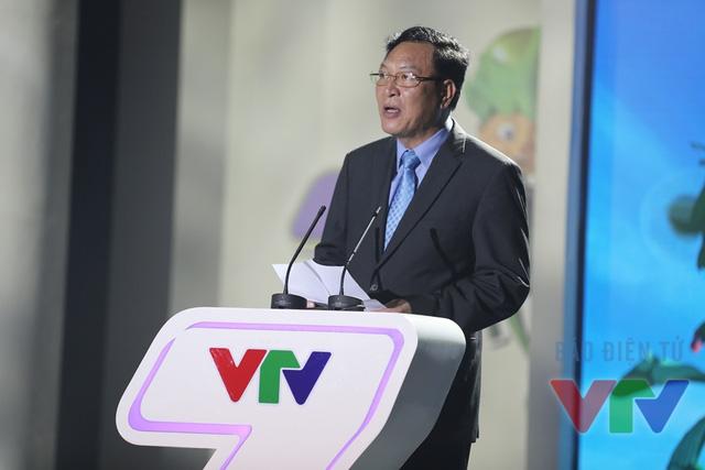 Bộ trưởng Bộ Giáo dục - Đào tạo Phạm Vũ Luận phát biểu tại buổi lễ ra mắt kênh VTV7 (Ảnh: Nhân Ái)