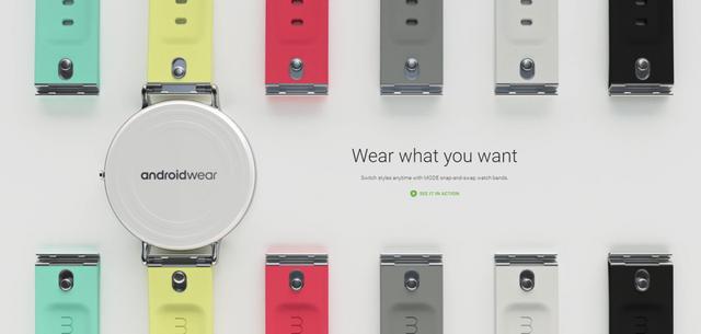Mẫu dây đeo mới của Google dành cho các thiết bị đeo Android Wear