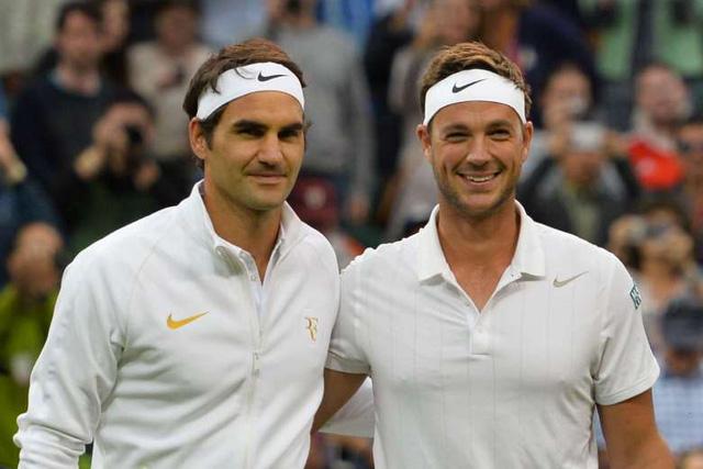 Marcus Willis không thể làm gì trước sức mạnh của Federer